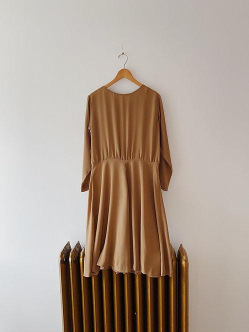 Tan Handmade Dress | L