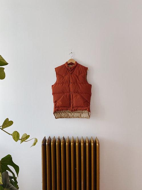 Burnt Orange Downfilled Puffer Vest   M
