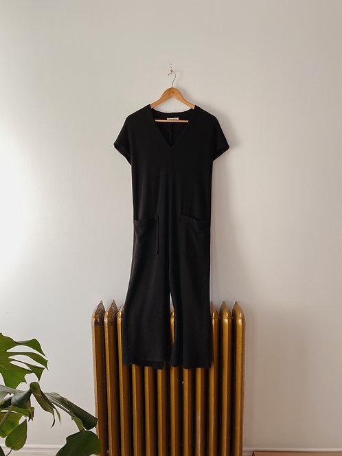 Black Wool Dress   M/L