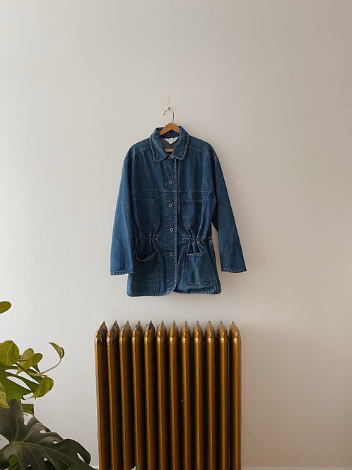 Indigo Denim Coat | L