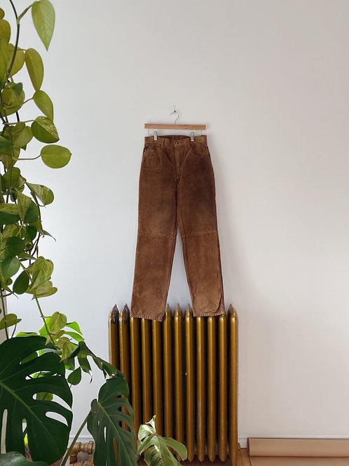 Pecan Suede Pants | 28
