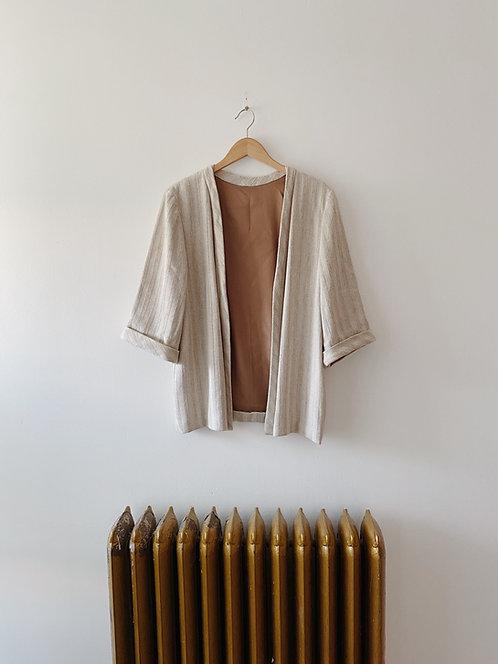 Striped Sand Jacket | M
