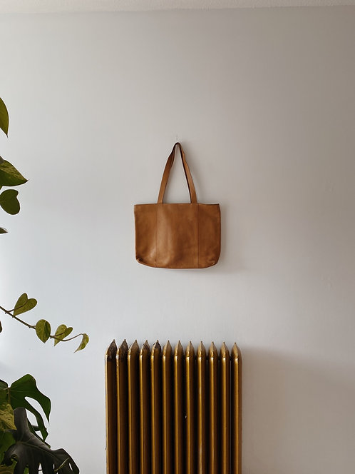 Tan Buttery Soft Leather Tote
