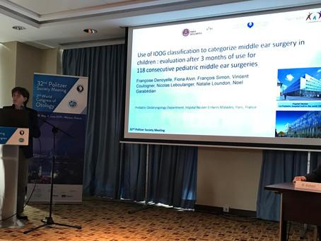 Prof. Françoise Denoyelle presents IOOG data at the 23rd Politzer Society Meeting, Warsaw 2019