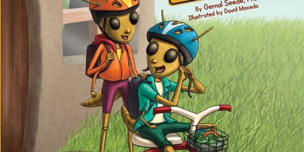 Chug and Thug Ride Trike reading at Art Walk