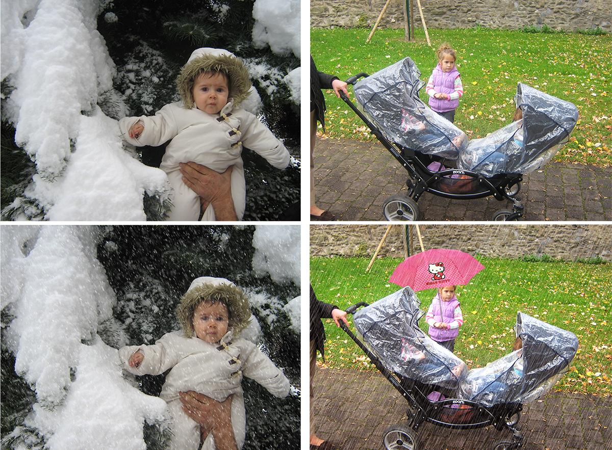 Dodavanje snega i kise