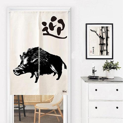 Wild Boar Doorway Curtain