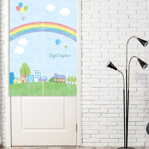 Rainbow Celebration Doorway Curtain