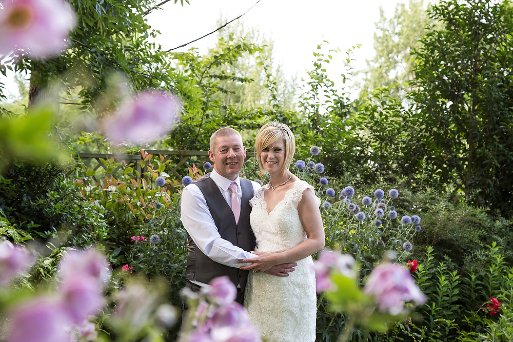 Bride and groom at Warwick House Wedding