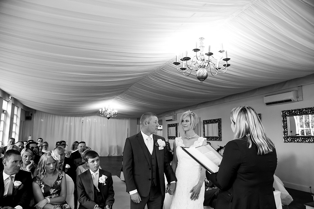 Wedding ceremony at Warwick House