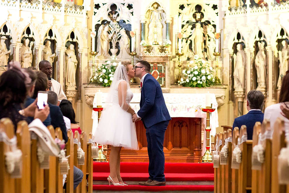 Wedding ceremony at St Maries Church in Rugby, Warwickshire