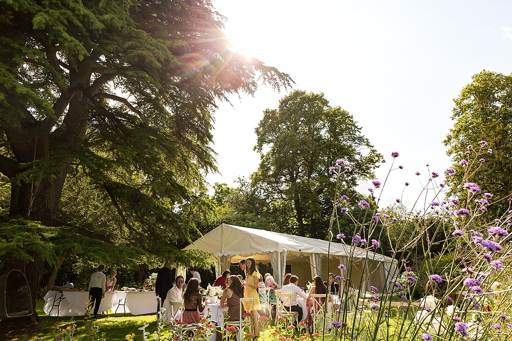 Summer garden party wedding in the Cotswolds