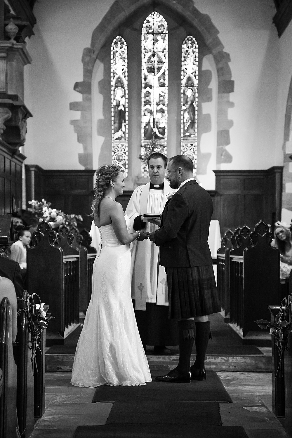 Wedding ceremony at St. Mary's Church, Clifton-upon-Dunsmore