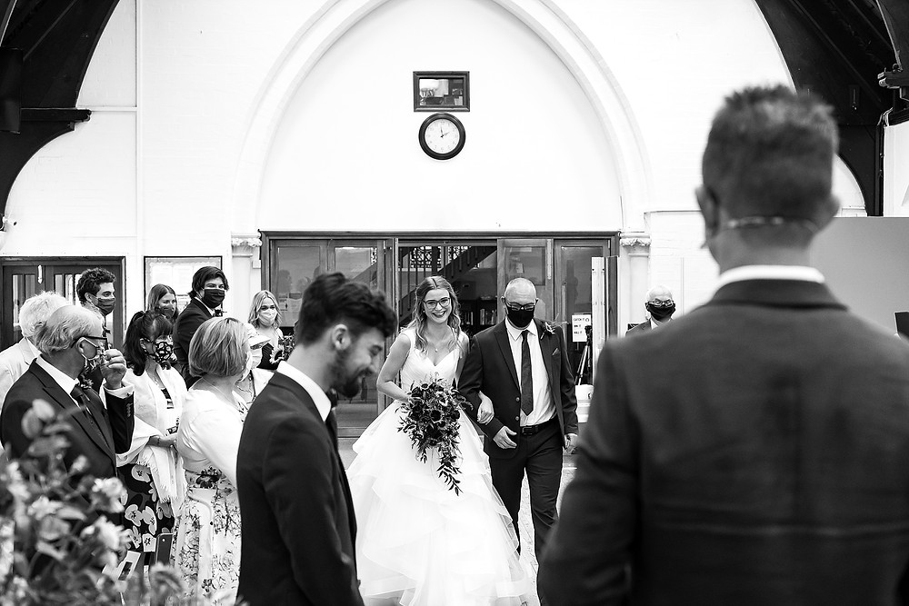 Confetti at Birmingham Church wedding