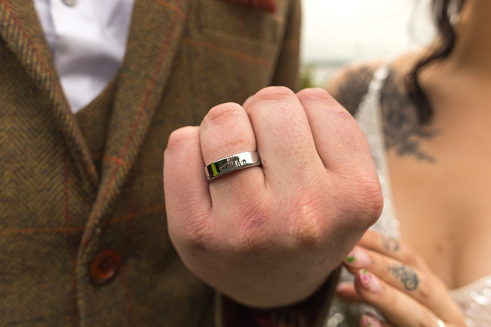 Star Wars grooms wedding ring