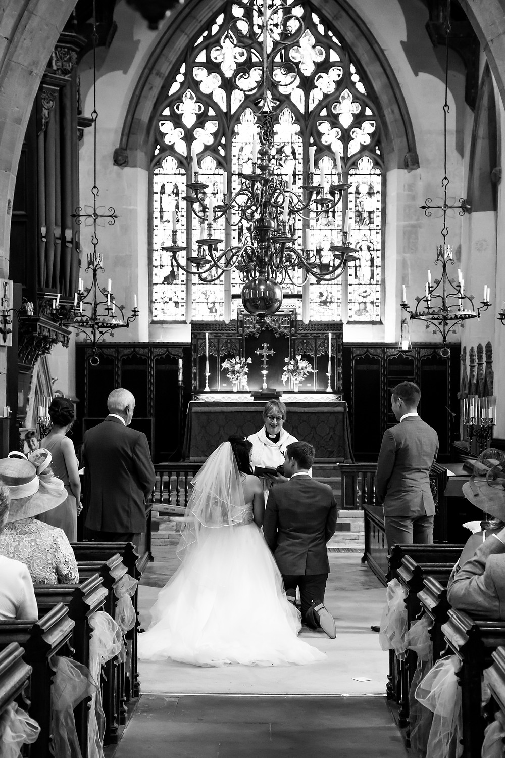 Wedding ceremony at St Mark's Church in Rugby, Warwickshire