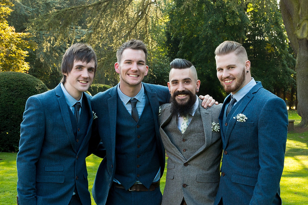 Groomsmen at Ansty Hall wedding