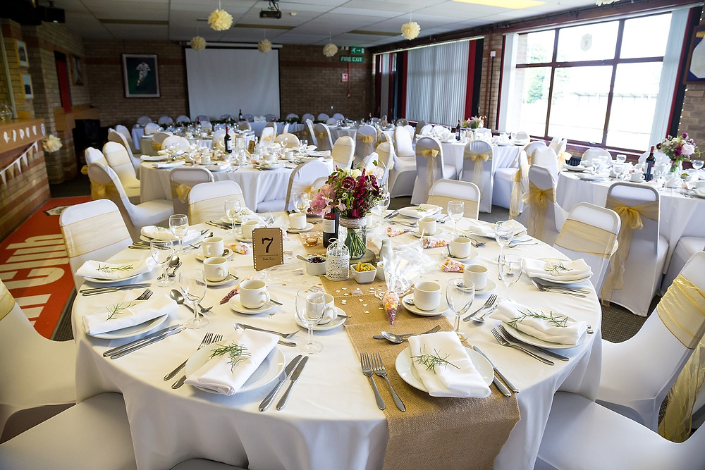 Wedding reception at Rugby Lions RFC