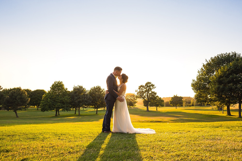 Golden hour wedding photography at Widmill Village Hotel Coventry