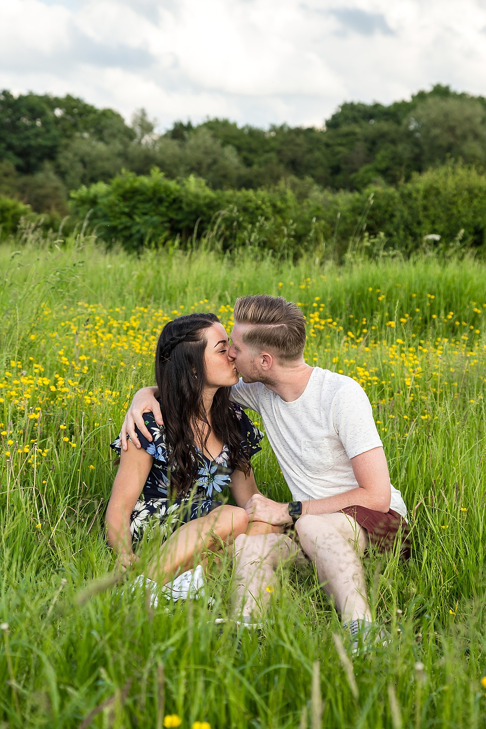 Warwickshire countryside couple engagement shoot