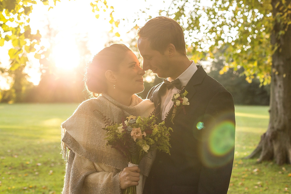 Golden hour wedding photography at Dunchuch Park Hotel