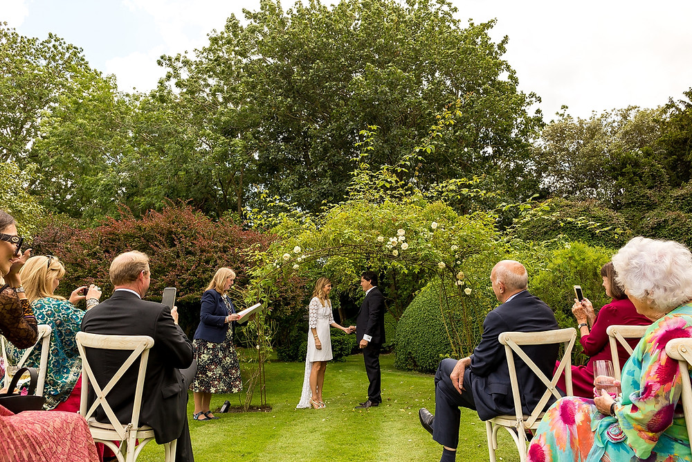 Outdoor wedding blessing in the Cotswolds