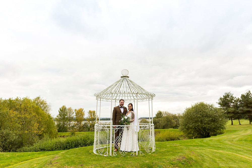 Bride and groom at Draycote Hotel Wedding