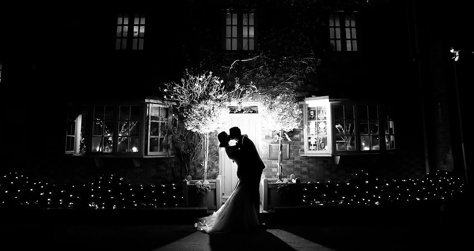 Romantic Wedding Couple Kissing in Warwickshire