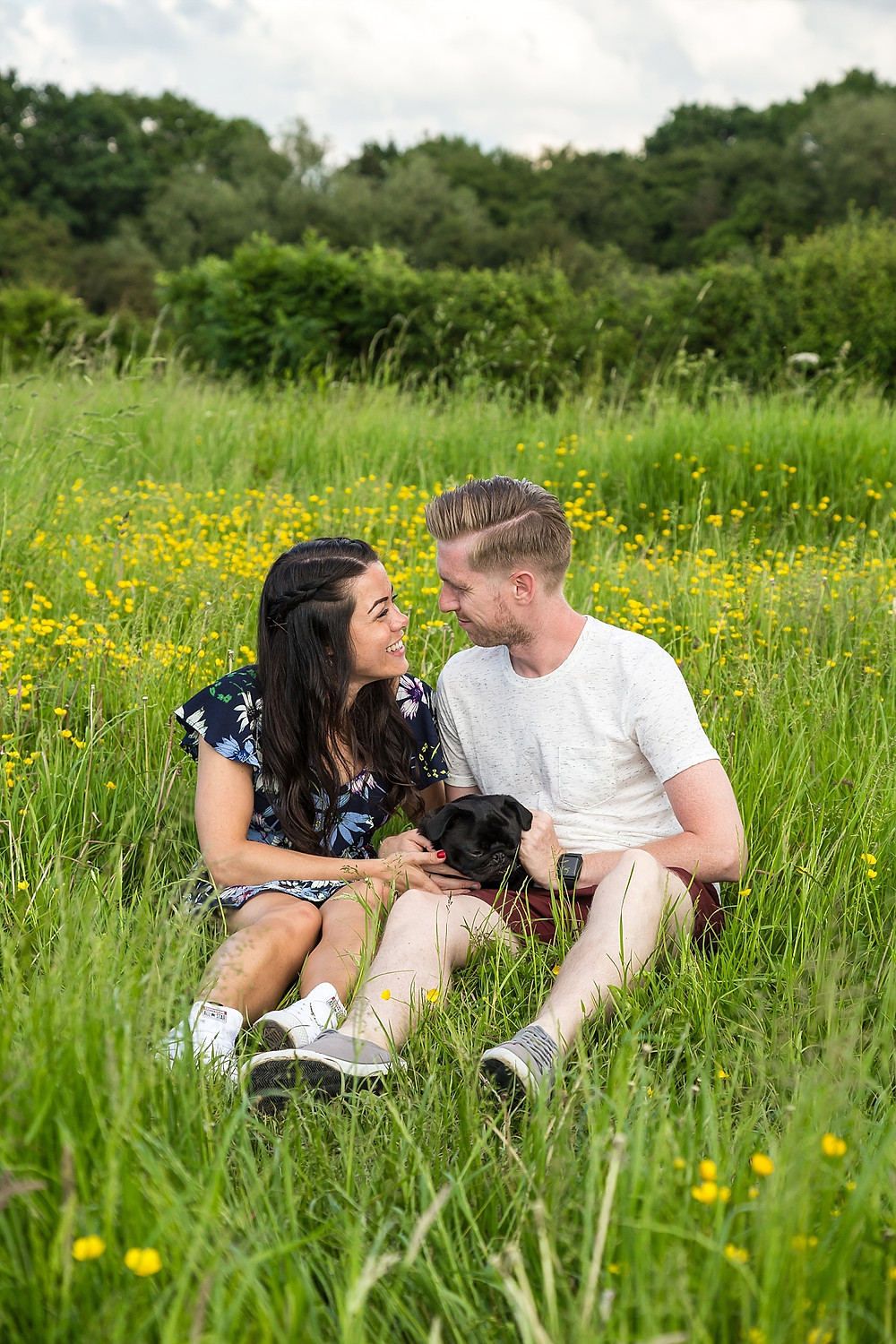 Engagement shoot in Nuneaton with dog