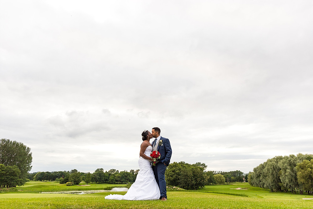 Bride and Groom at The Belfry Hotel wedding