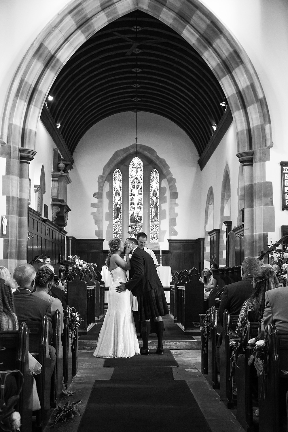 Wedding ceremony at St Mary's Church in Rugby, Warwickshire