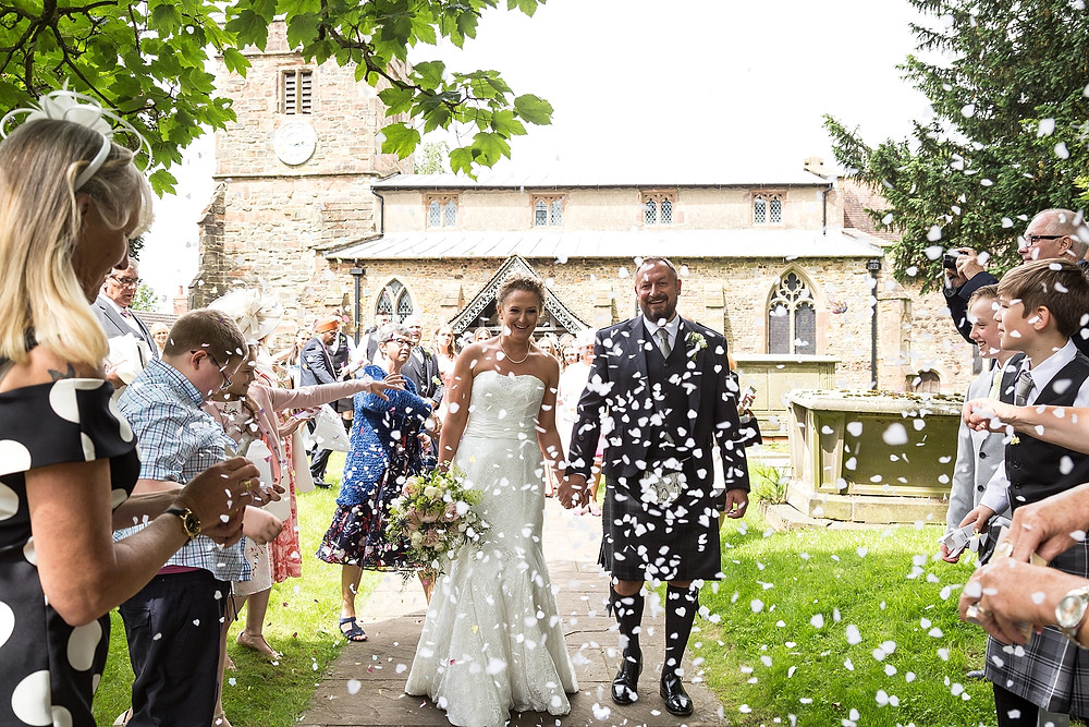 Confetti at St. Mary's Church, Clifton-upon-Dunsmore