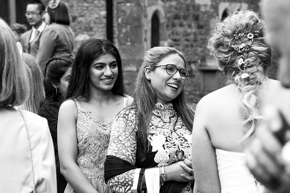 Candid wedding photographer at St. Mary's Church, Clifton-upon-Dunsmore, Rugby