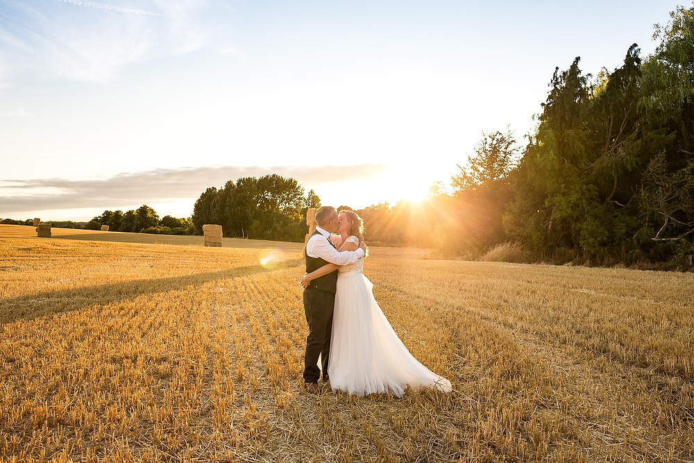 Golden hour wedding photography at Hothorpe Hall and The Woodlands at Hothorpe Events.
