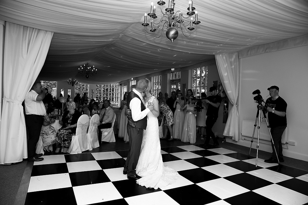 First dance at Warwick House wedding