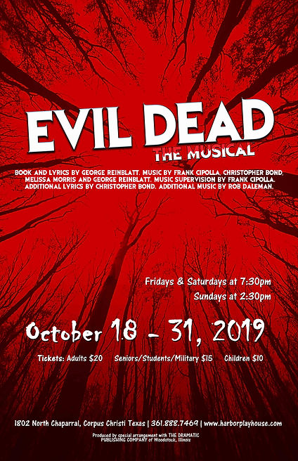Evil Dead Show Poster 2019 for productio