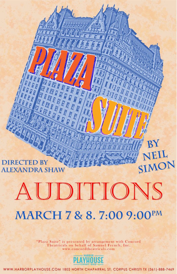 PLAZA SUITE AUDITIONS
