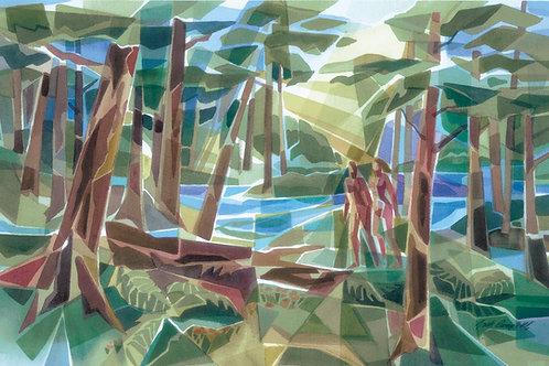 """Nature Stroll""  26 x 40 Giclee Print"