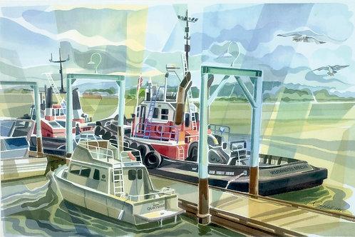 Fraser Tugboats  26 x 40 Giclee Print