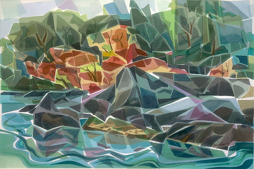 """Shoreline""  West Coast 30 X 40 Giclee Print"