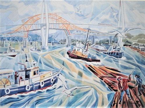 """""""""""Spririt of the Fraser"""" 48 x 36 Giclee Print"""
