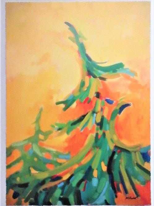 Tree Study #2  40 X 3 Giclee Print