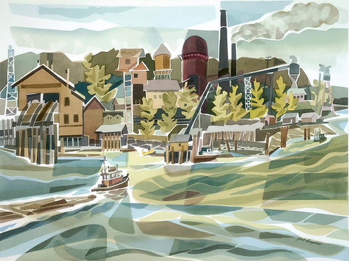 """Old Mill On The Fraser #1"" 30 x 22"