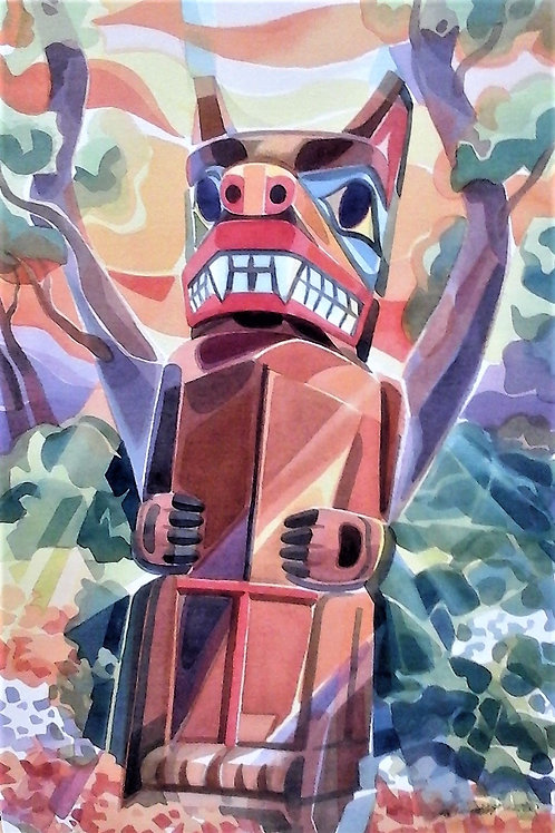 """Bear Totem""  15 X 22  Giclee Print"