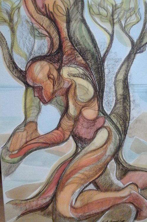 """Man In Arbutus""  15 x 22 Giclee Print"