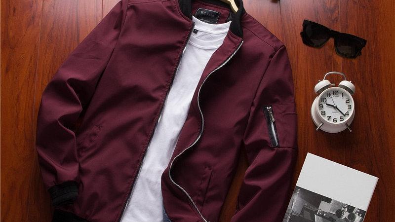 Men's pilot bomber jacket
