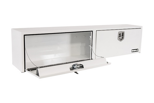 """Buyers Products White Steel Topsider Truck Box 16"""" x 13"""" x 88"""""""
