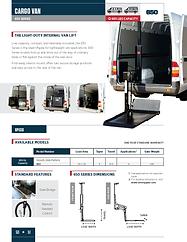 Cover - Tommy Gate Cargo Van 650 Series.