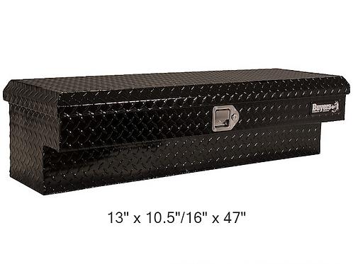 Buyers Products Black Aluminum Diamond Tread Low Side Toolbox