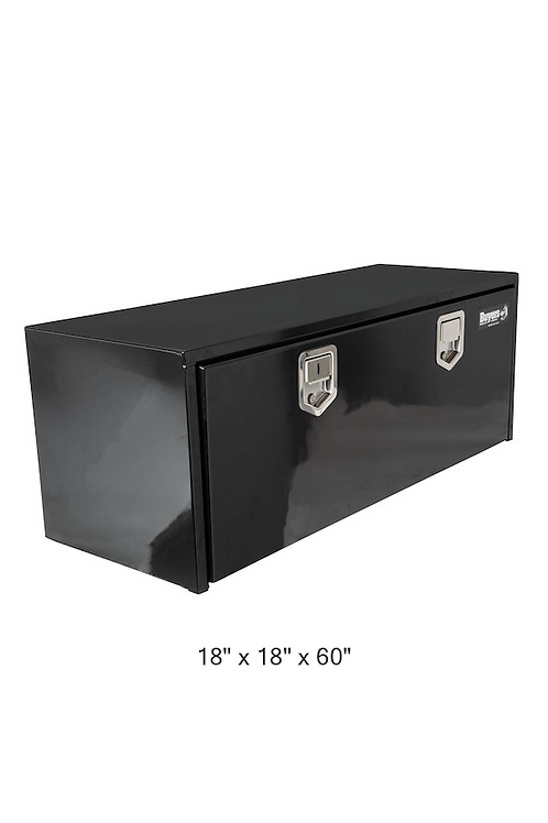 Buyers Products Black Steel Underbody Truck Box with Paddle Latch